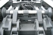 Hydraulische Containerzentrierung
