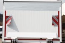 Ladebordwand Ausfuehrung - stehend mit Ausstellklappe